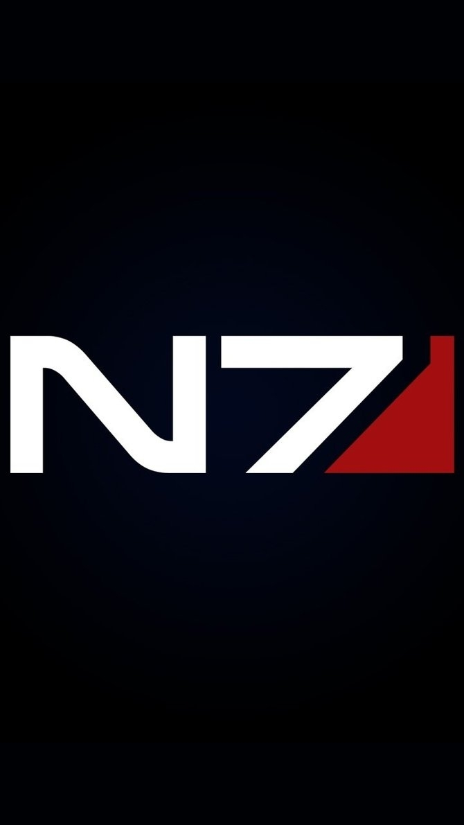 android wallpaper - mass effect n7 logocrushbug on deviantart