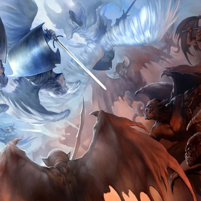 10 Best Angel And Demons Wallpaper FULL HD 1080p For PC Desktop 2020 free download angels vs demons walldevil 800x800