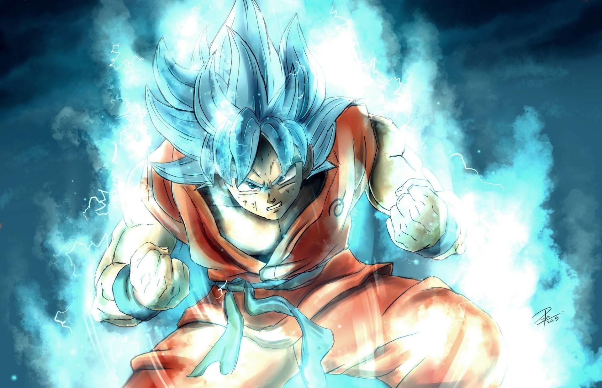 anime dragon ball super goku super saiyan blue wallpaper   dragon