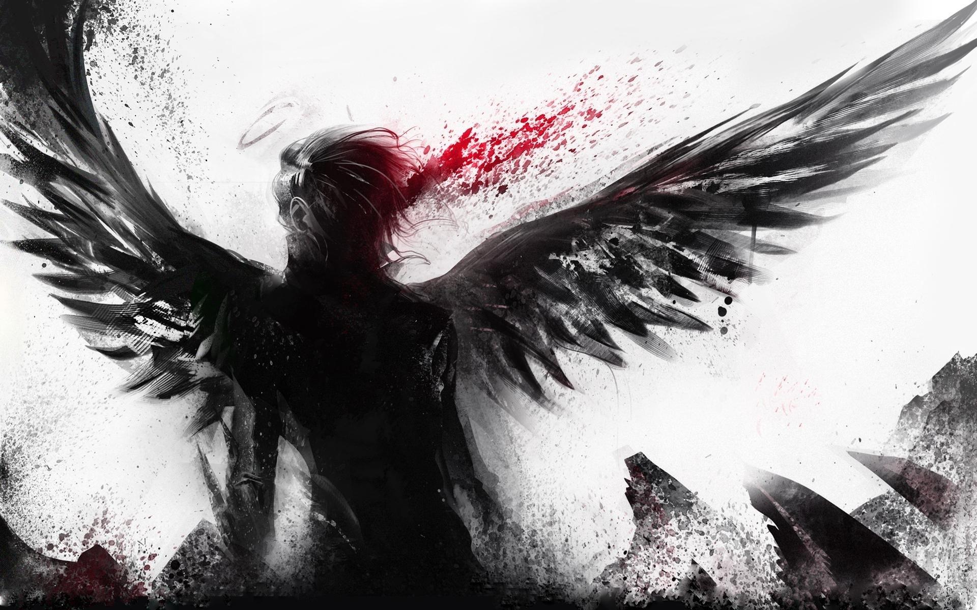 anime fallen angel wallpaper hd widescreen 11 | malaikat | pinterest