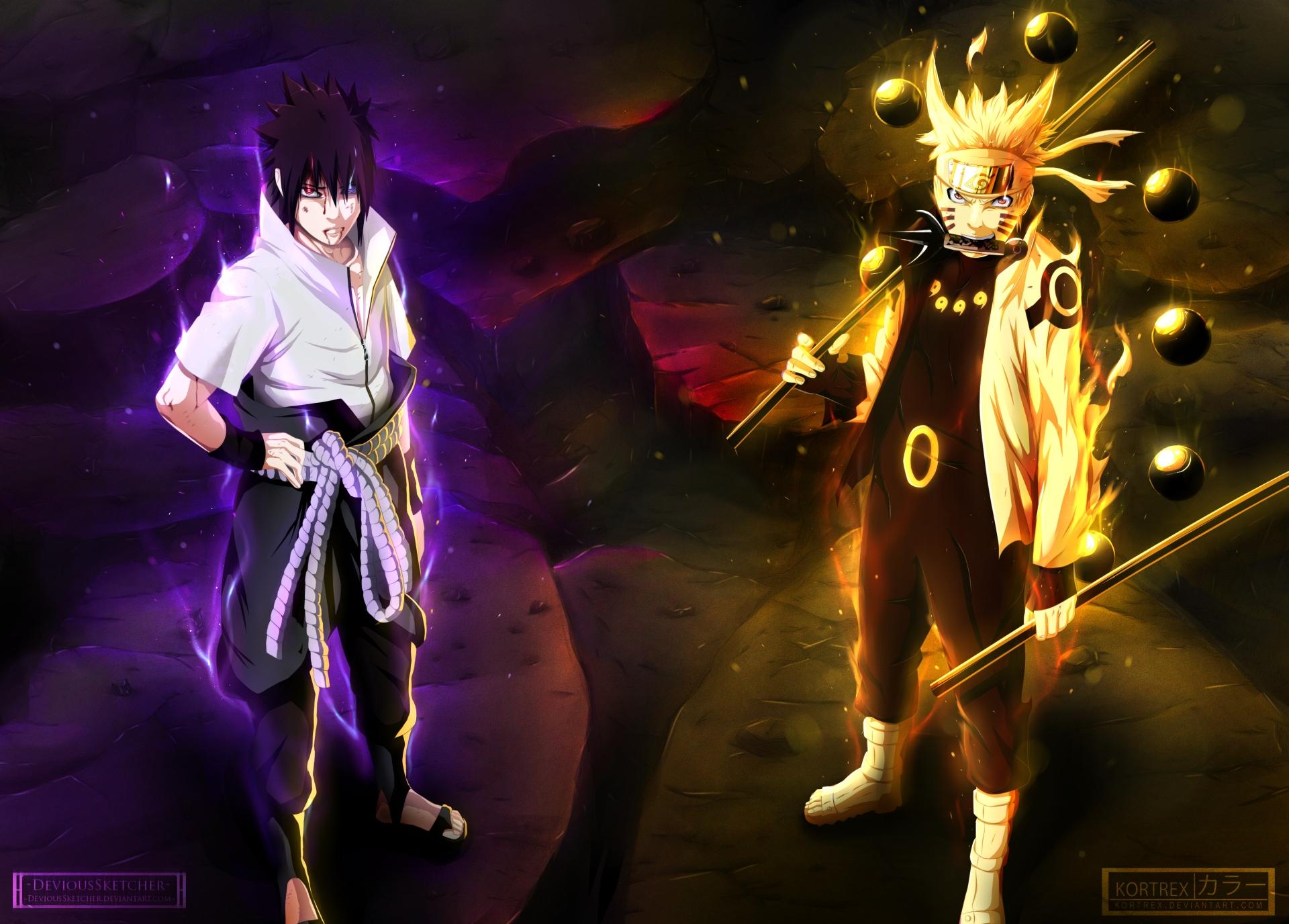 anime naruto sasuke uchiha naruto uzumaki anime fond d'écran