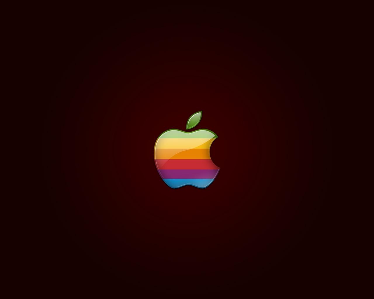 apple rainbow logo wallpaper   wallpaper wide hd