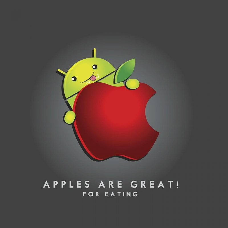 10 Top Android Eating Apple Wallpaper FULL HD 1920×1080 For PC Desktop 2018 free download apples are great for eating funny apple vs android wallpaper 800x800