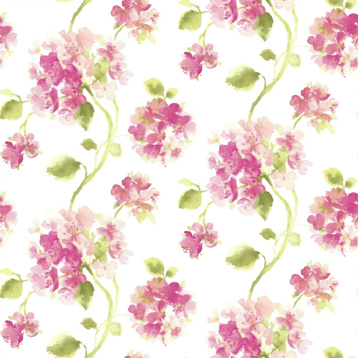 aquarelle pink floral wallpaper | ❥✿⚛patterns⚜⚜prints