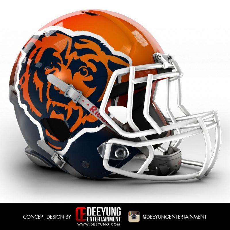 10 Best Cool Chicago Bears Logo FULL HD 1920×1080 For PC Desktop 2020 free download artist redesigns nfl helmets 800x800
