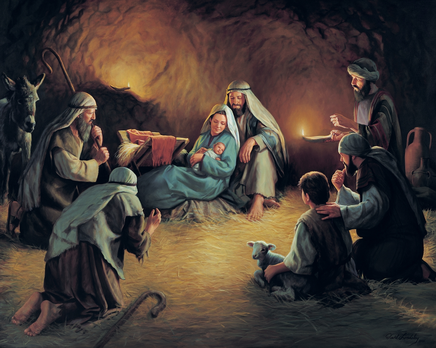 artwork from birth of jesus christ exhibit | church history museum
