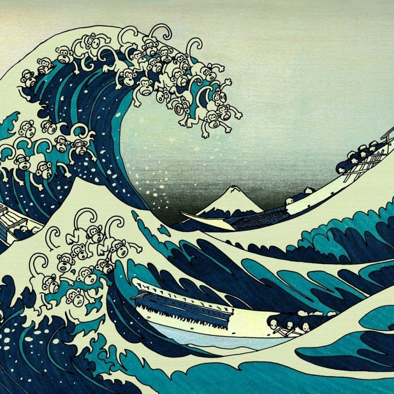 10 Top The Great Wave Off Kanagawa Hd FULL HD 1920×1080 For PC Desktop 2018 free download artwork monkeys the great wave off kanagawa 1280x1024 wallpaper high 800x800