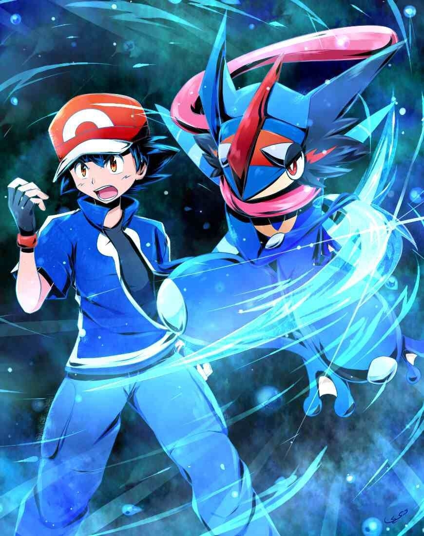 ash and greninja | epicness | pinterest | ash, pokémon and ash ketchum