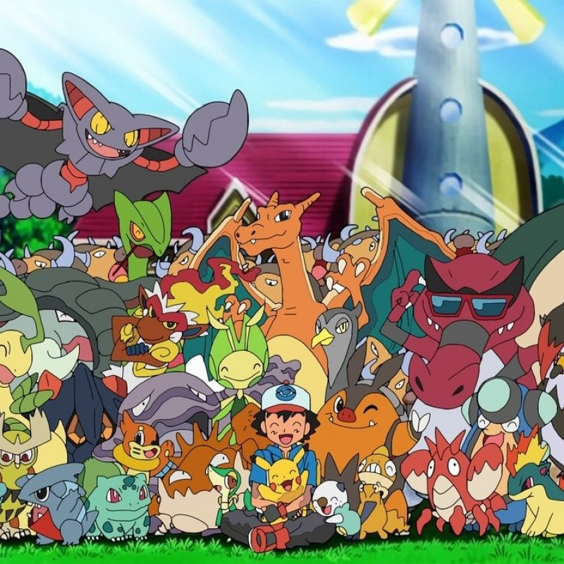 10 Most Popular Ash's Pokemon Group Photo FULL HD 1080p For PC Background 2018 free download ash with his pokemon70jack90 on deviantart 800x800