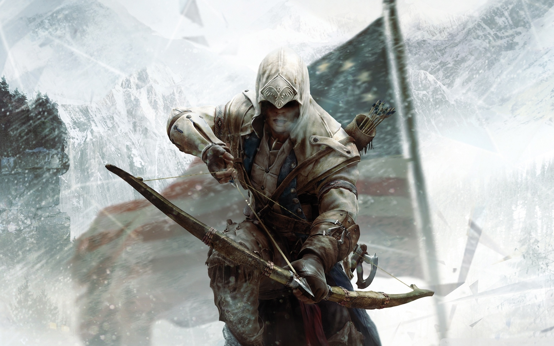 assassin's creed 3 connor bow ❤ 4k hd desktop wallpaper for 4k