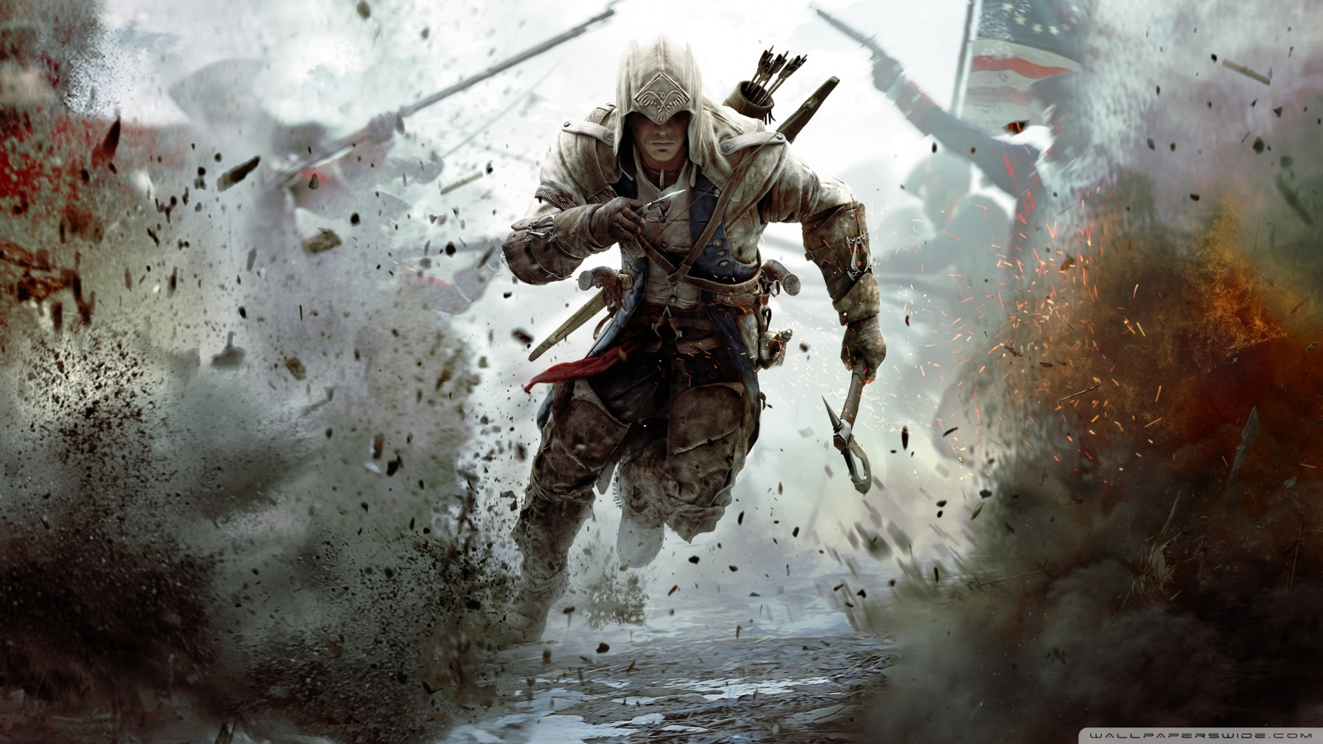 assassins creed 3 connor free running-wallpaper-1920x1080 - 10 000