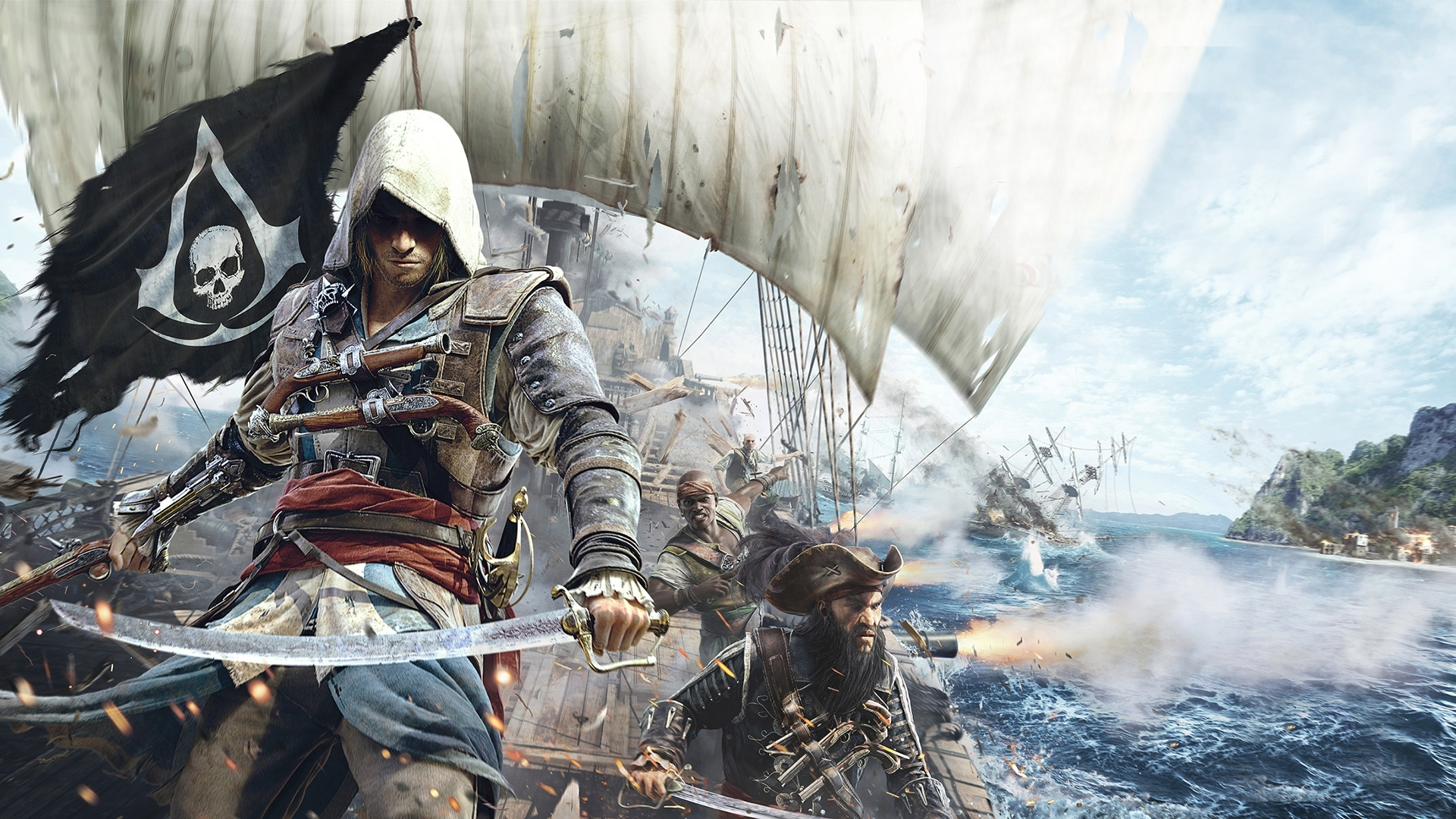 assassin's creed iv: black flag full hd fond d'écran and arrière