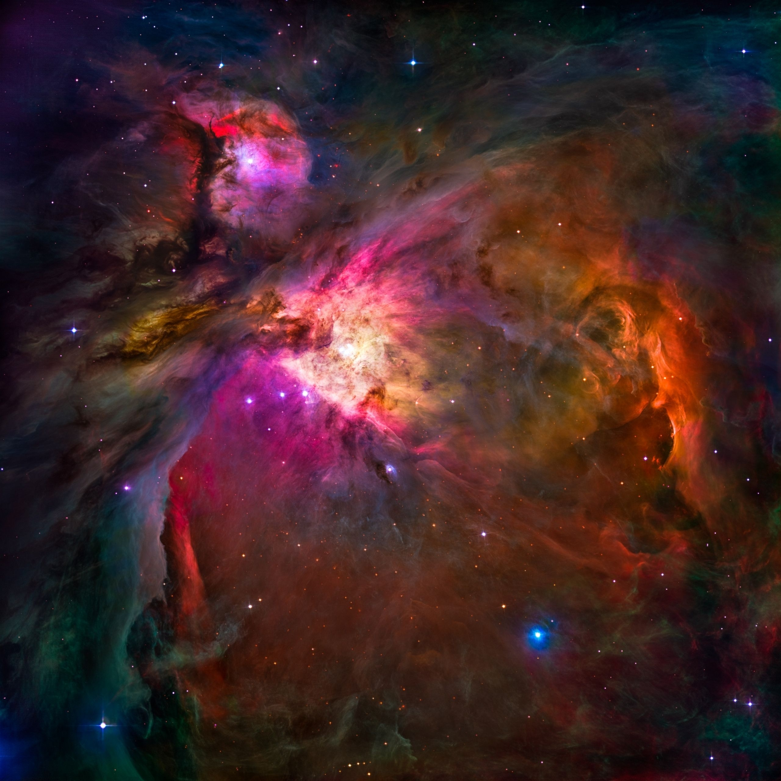 astronomy: hubble's orion #nebula, with a bit of vibrancy and shadow