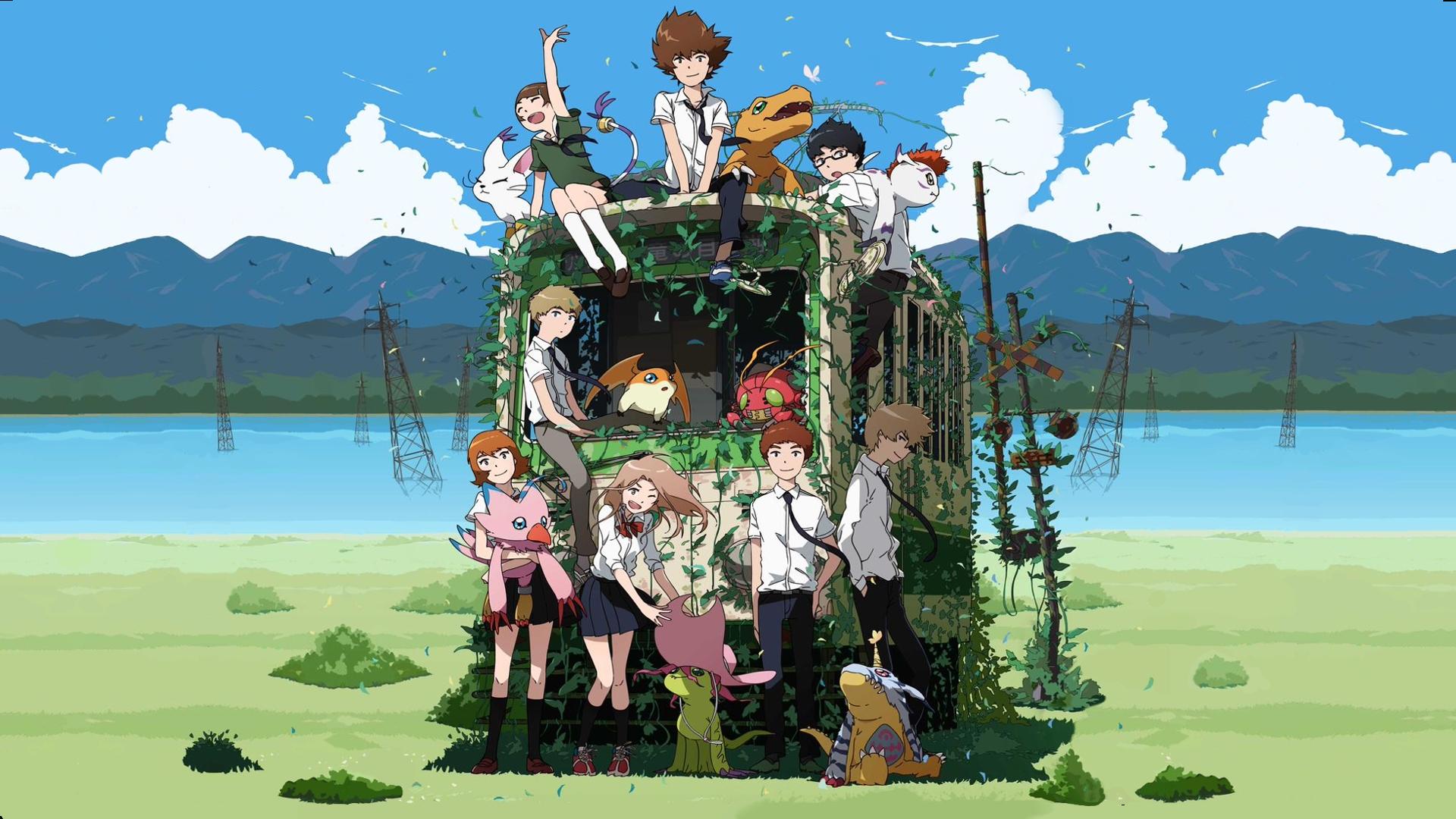 at the broken car anime digimon adventure tri wallpaper hd 2015