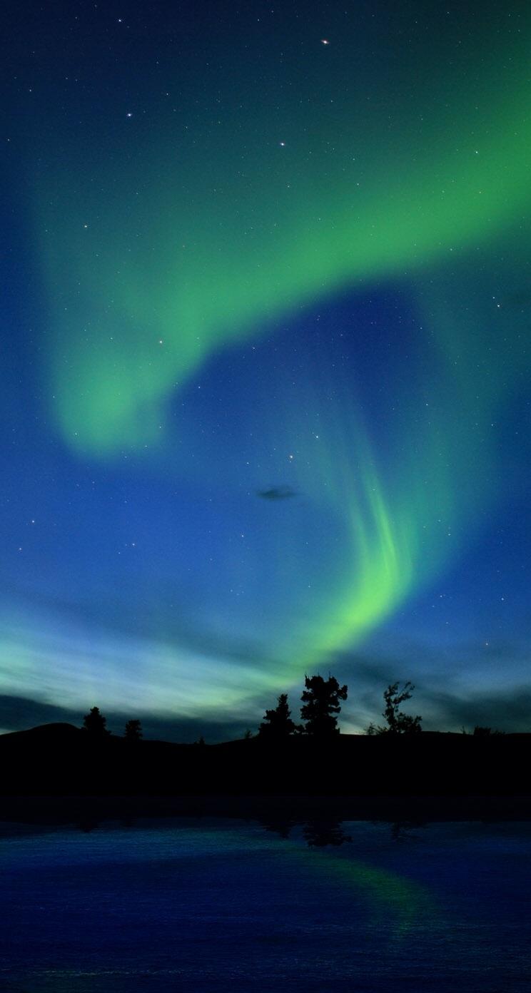 aurora borealis northern lights iphone 5 wallpaper hd - free
