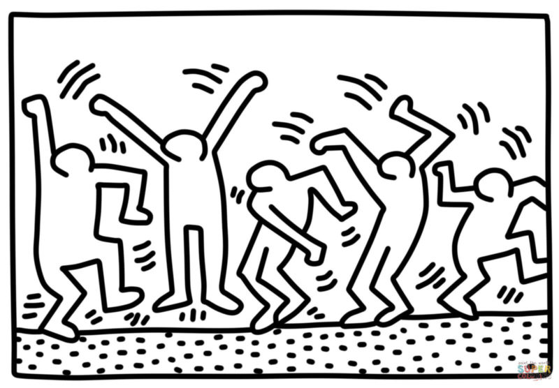 10 Best Keith Haring Black And White Wallpaper FULL HD 1920×1080 For PC Desktop 2018 free download ausmalbild dancing figures von keith haring kategorien keith 800x556