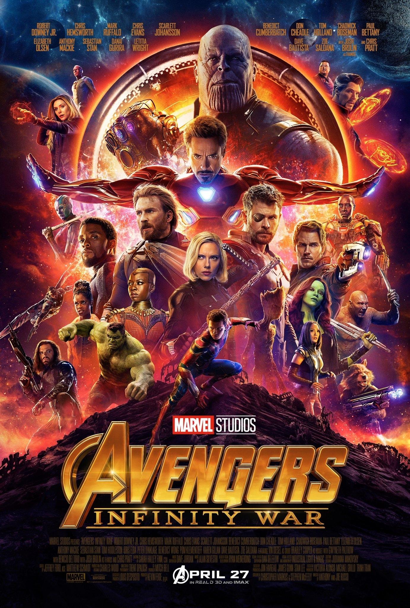 avengers-infinity-war-affiche-poster-hd - les toiles héroïques