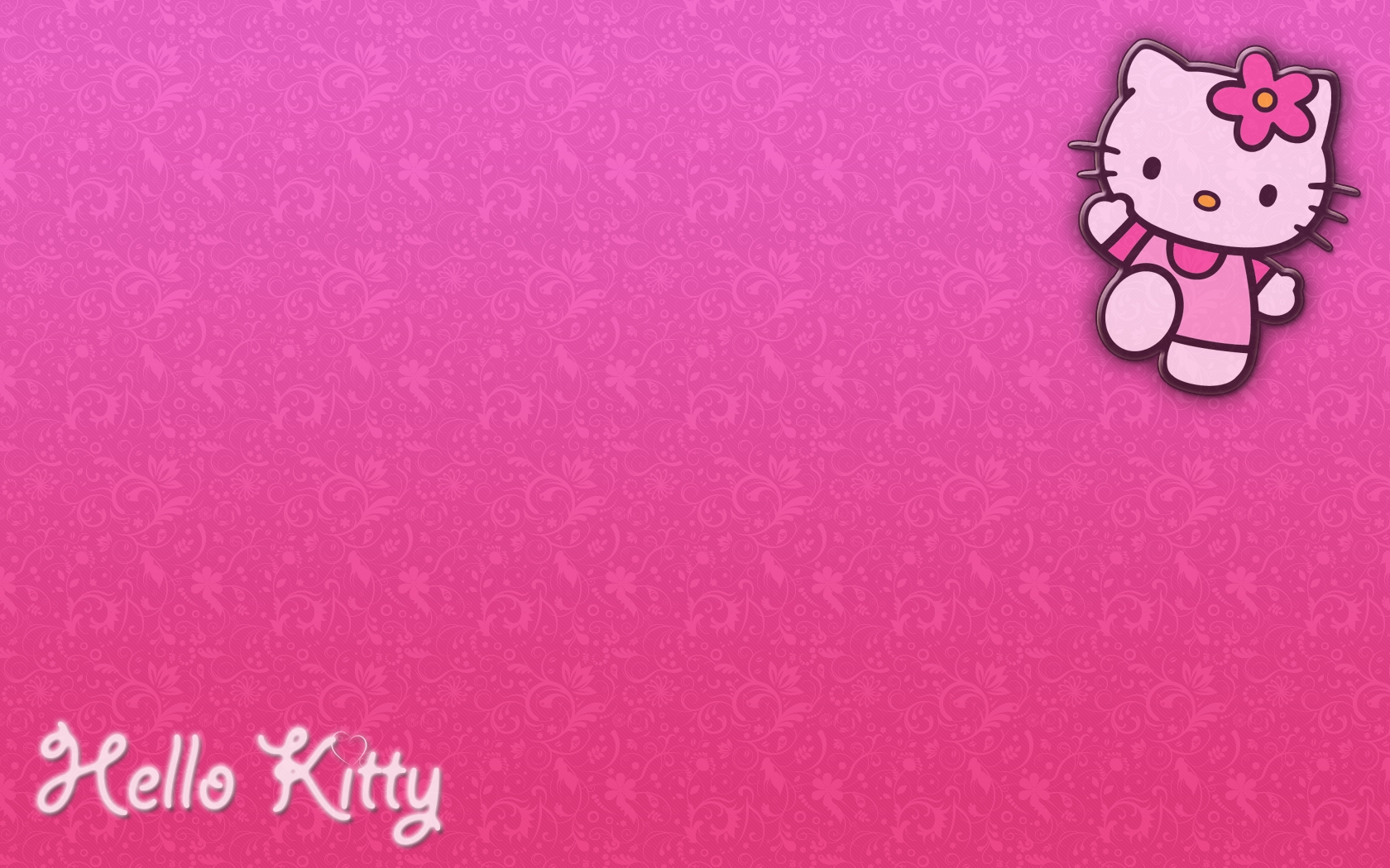 background pink hello kitty group with 50 items