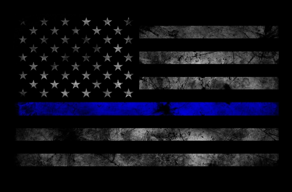 bao tactical - thin blue line subdued american flag sticker - body