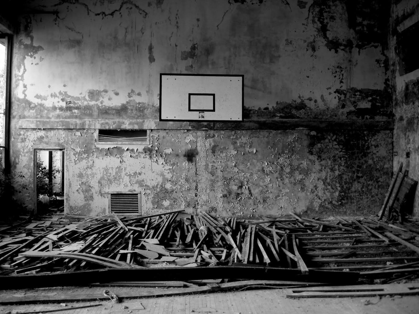 basketball basket urban place black an3d white photo hd | basket