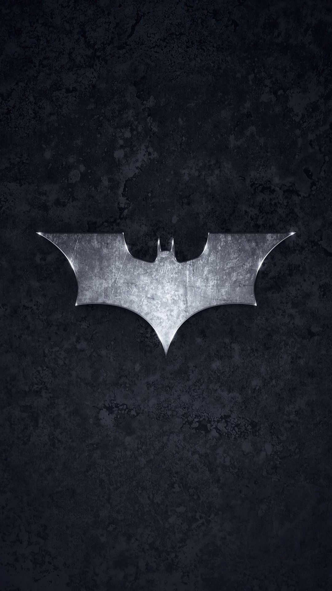 batman logo brushed metal android wallpaper free download