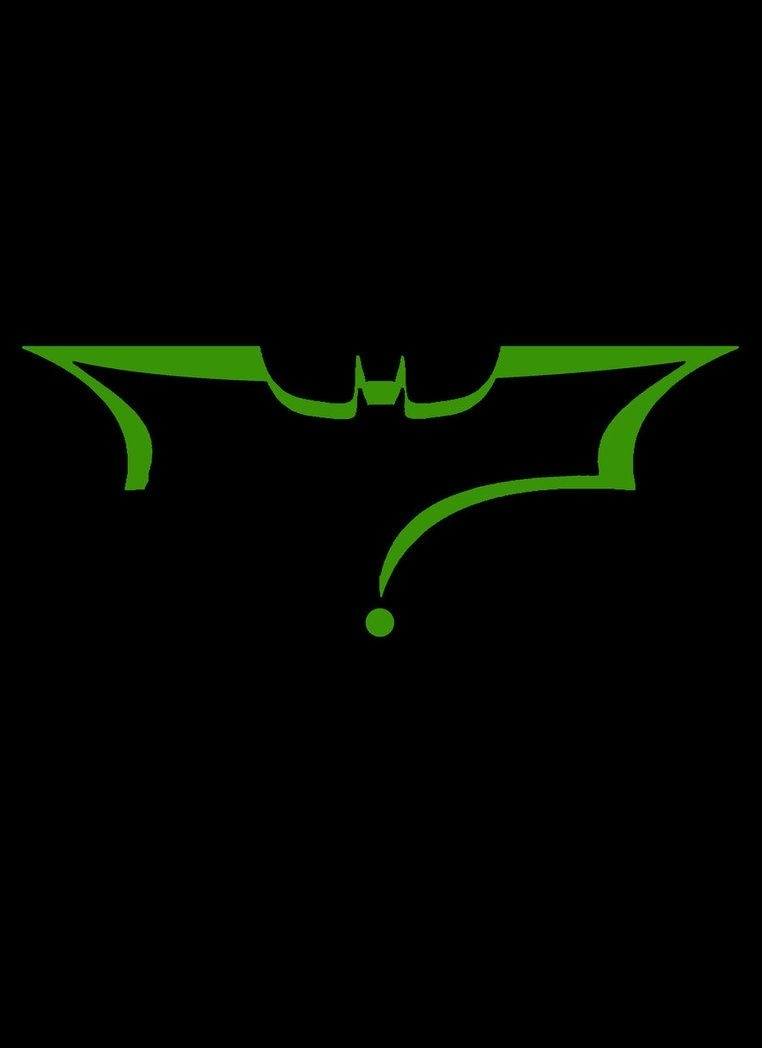 batman symbol in the shape of the riddler question mark | batman