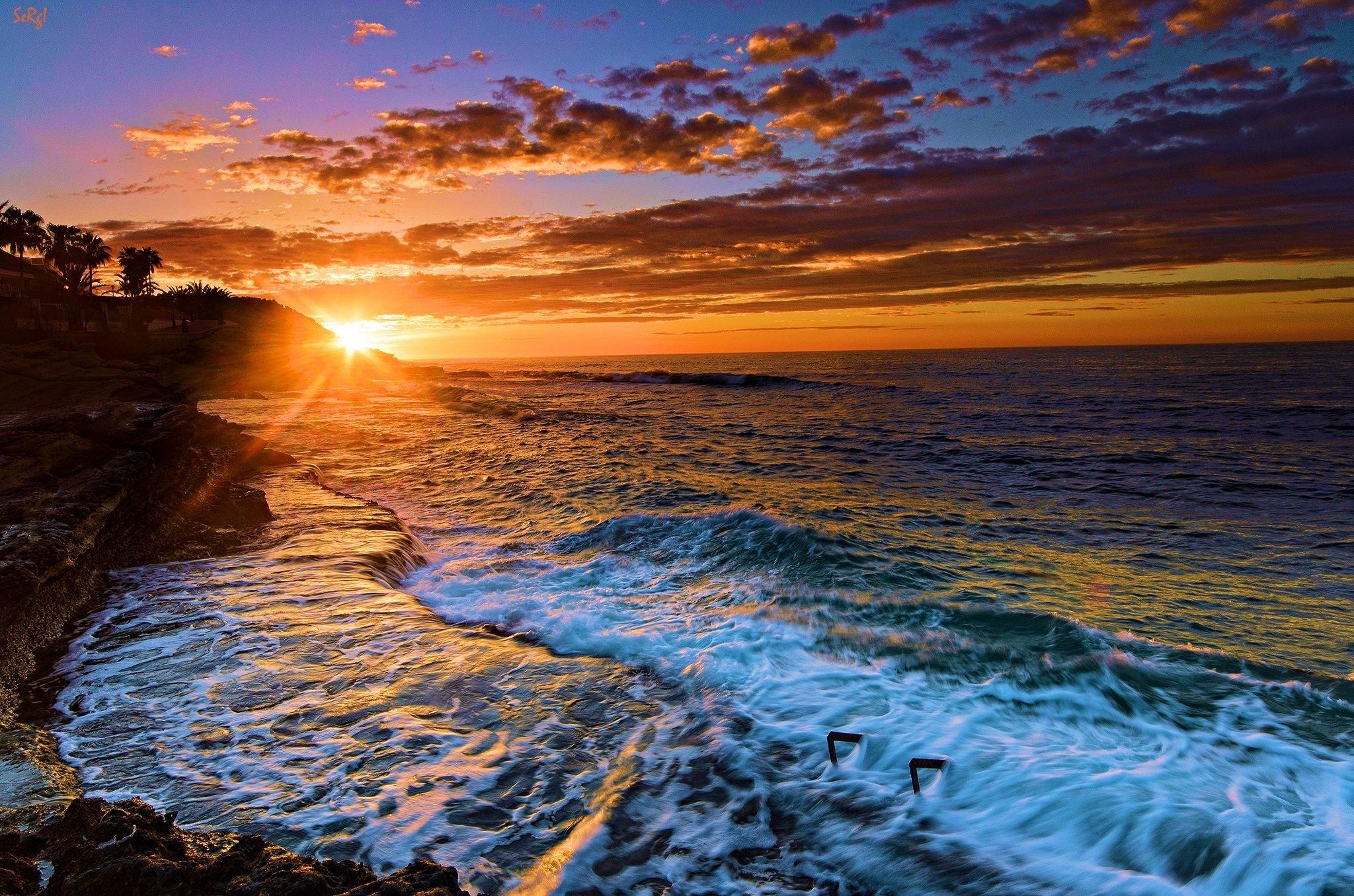 beach sunset desktop wallpaper - wallpapersafari | epic car