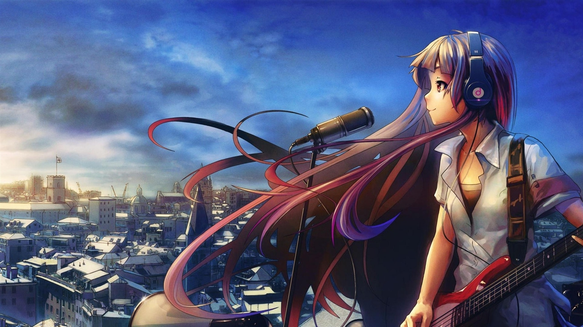 beautiful anime music wallpaper 42551 1920x1080 px ~ hdwallsource