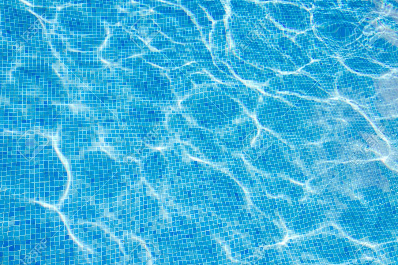 beautiful cool water in swimming pool background stock photo