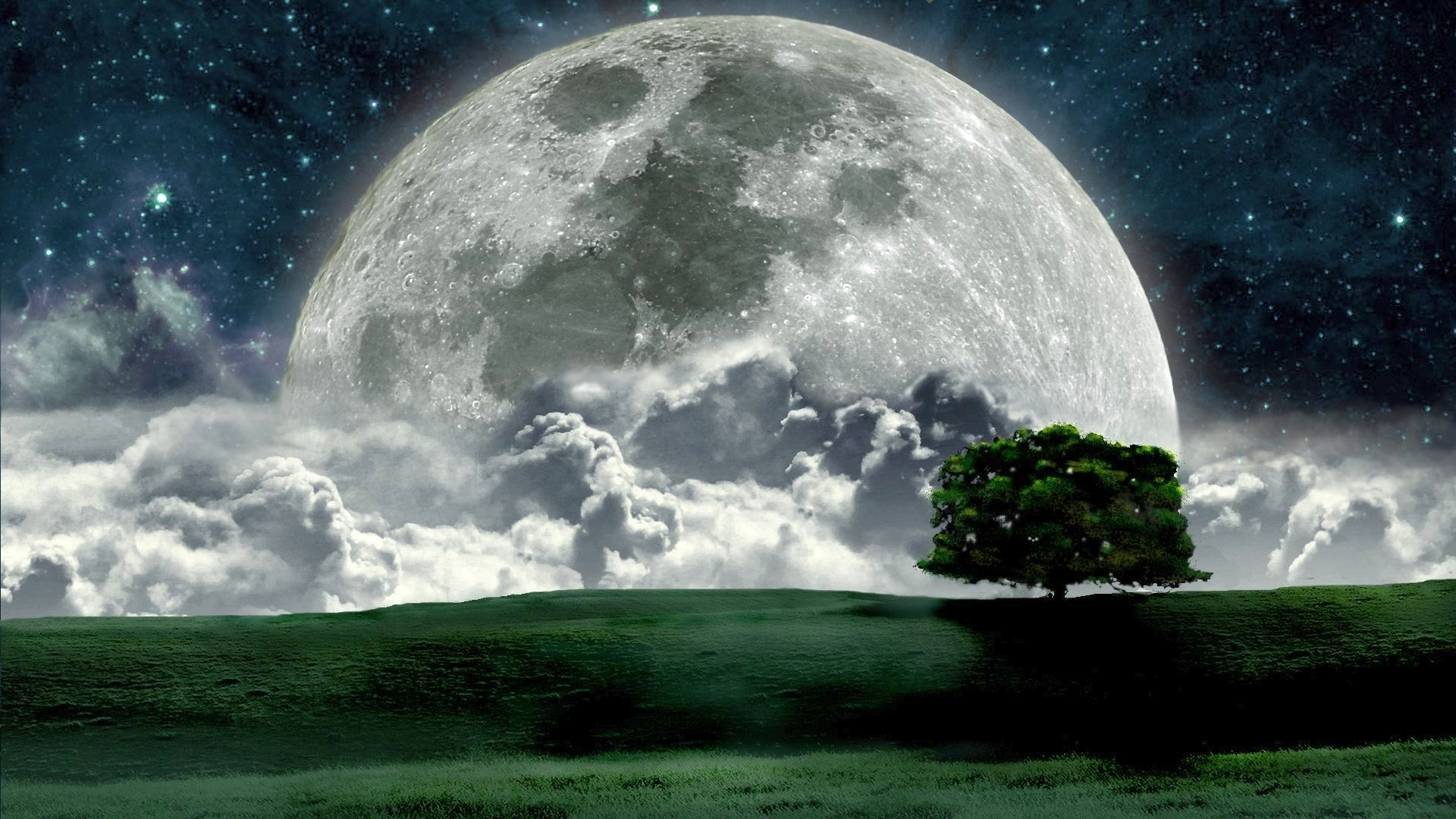 beautiful night moon photos hd wallpaper free full moon wallpaper