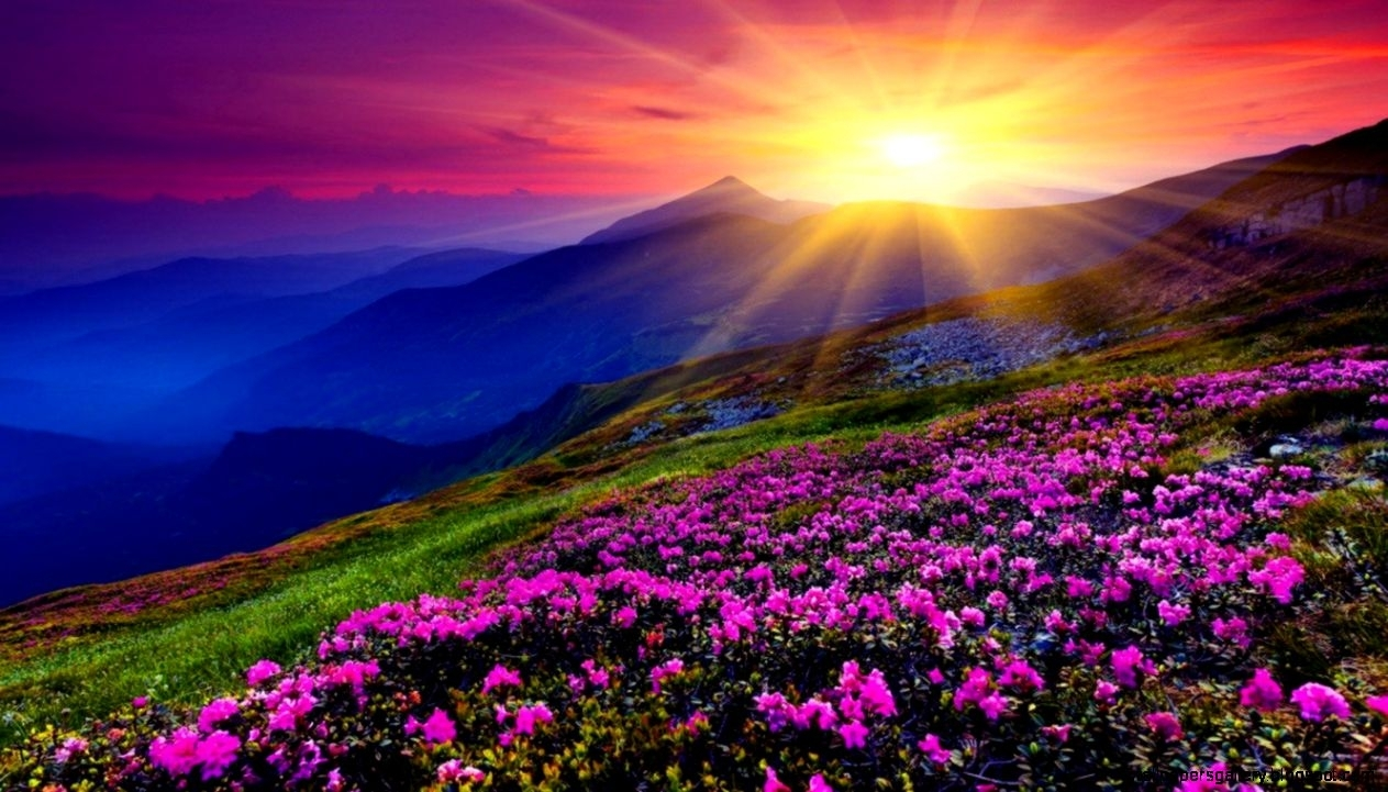 beautiful sunset mountain wallpapers | wallpapers gallery