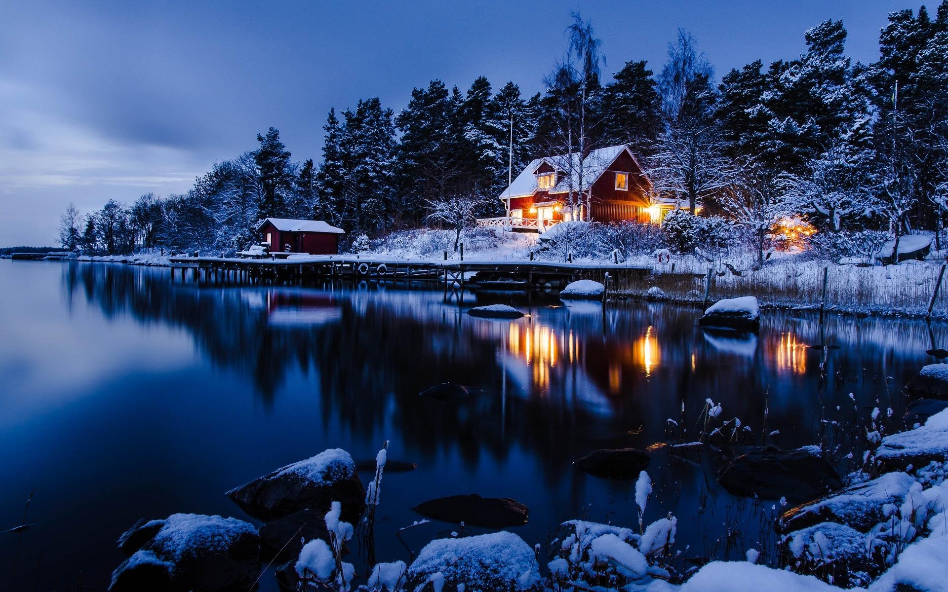beautiful winter night wallpaper | pixelstalk