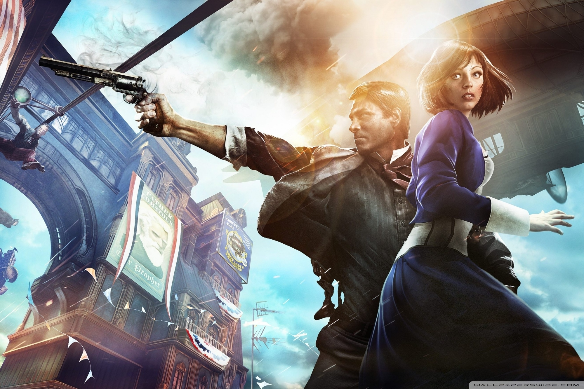 bioshock infinite ❤ 4k hd desktop wallpaper for 4k ultra hd tv