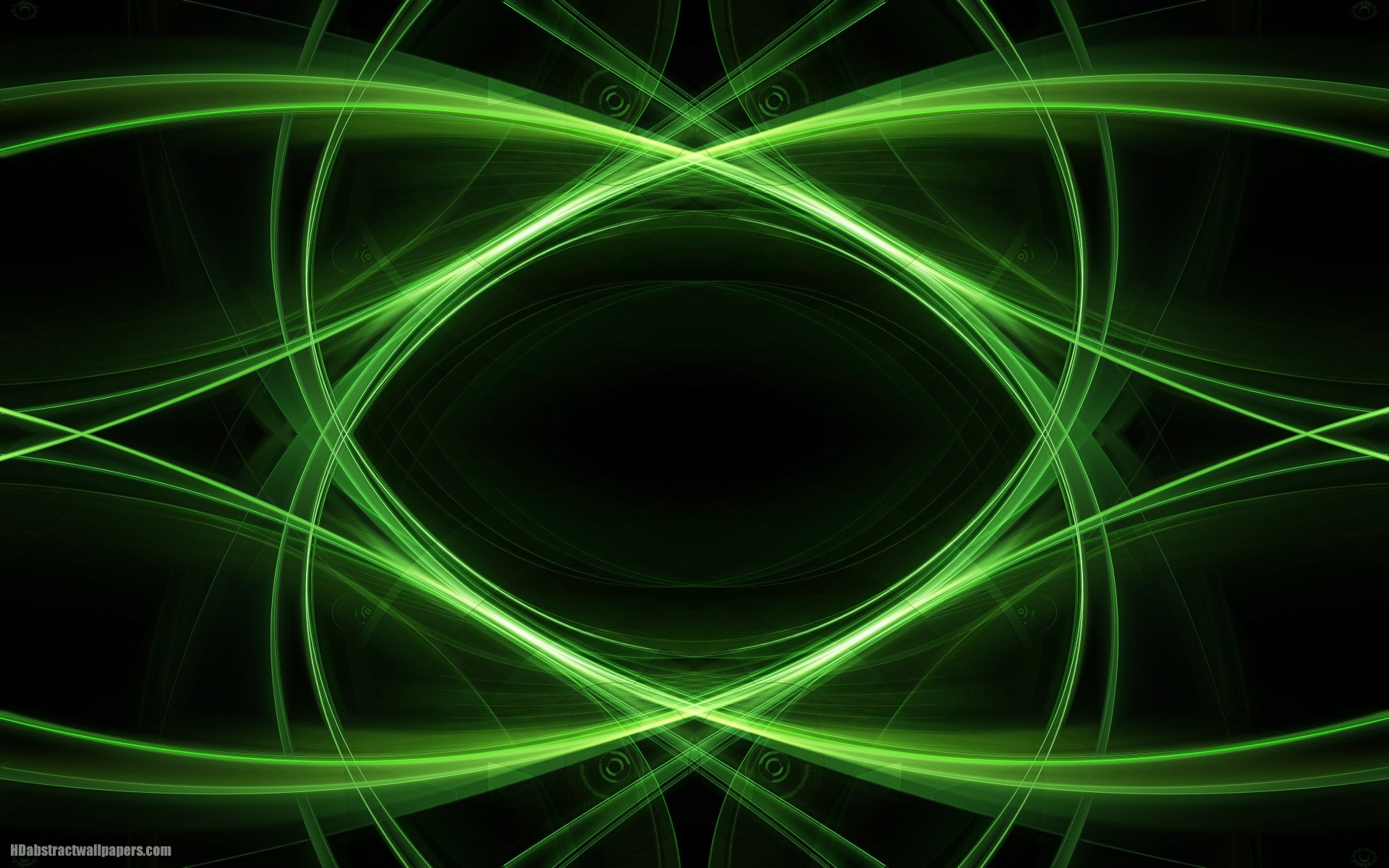 black abstract wallpaper with green lines | hd abstract wallpapers