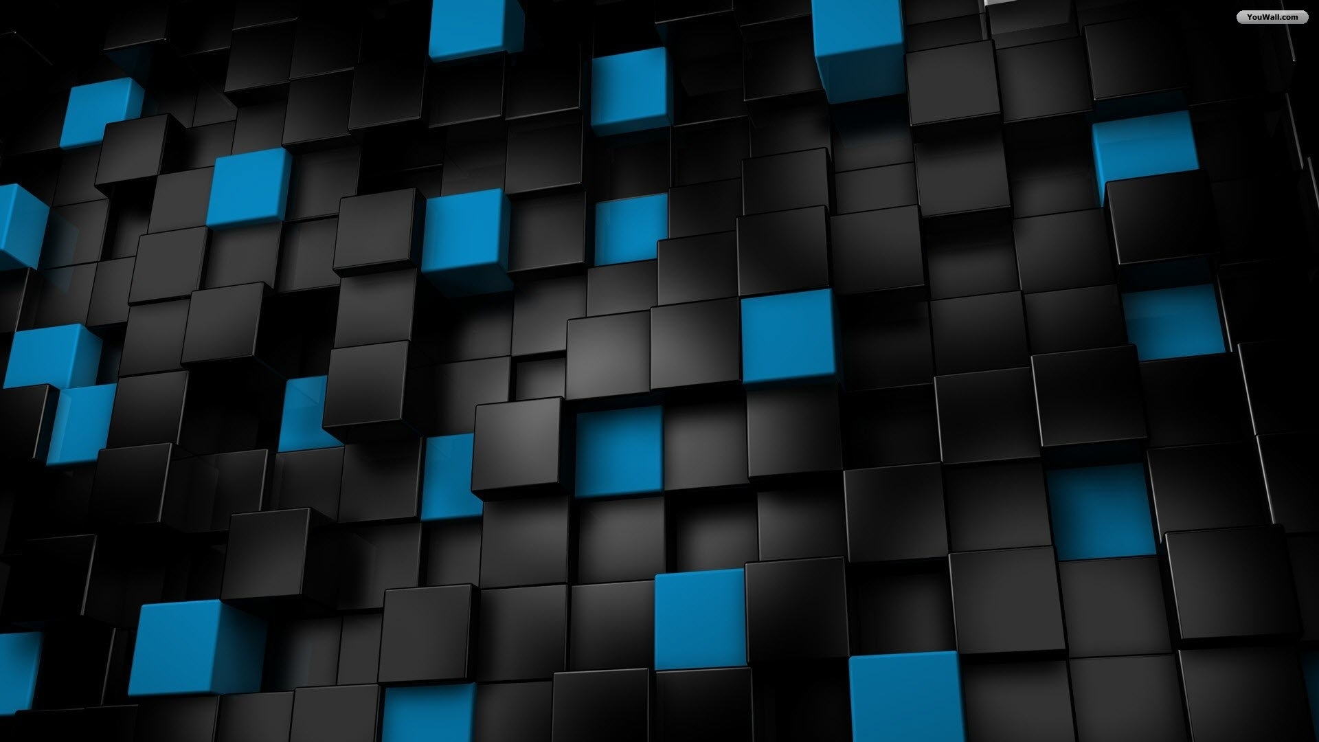 black-and-blue-cubes-wallpaper : free download, borrow, and