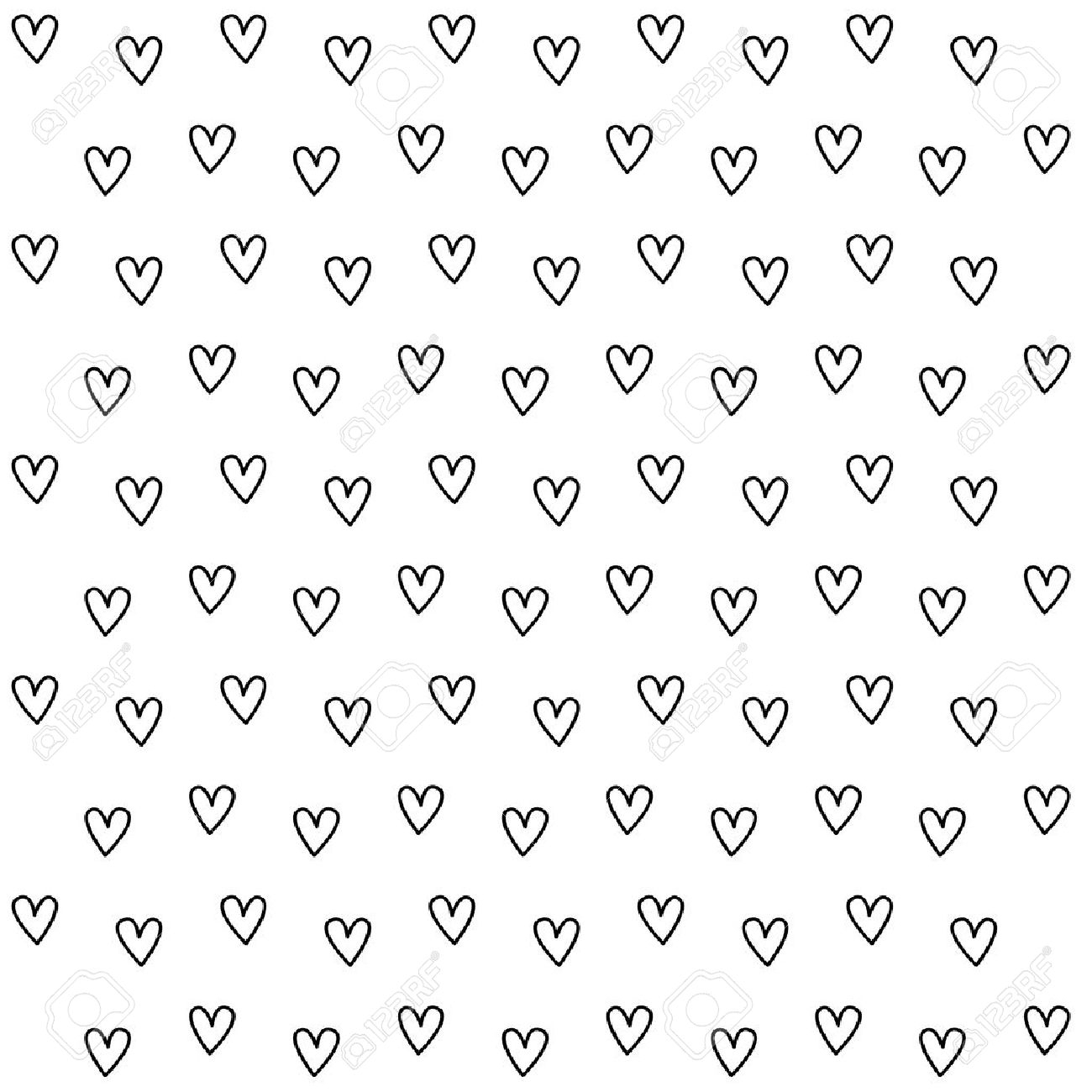 black and white heart pattern background royalty free cliparts