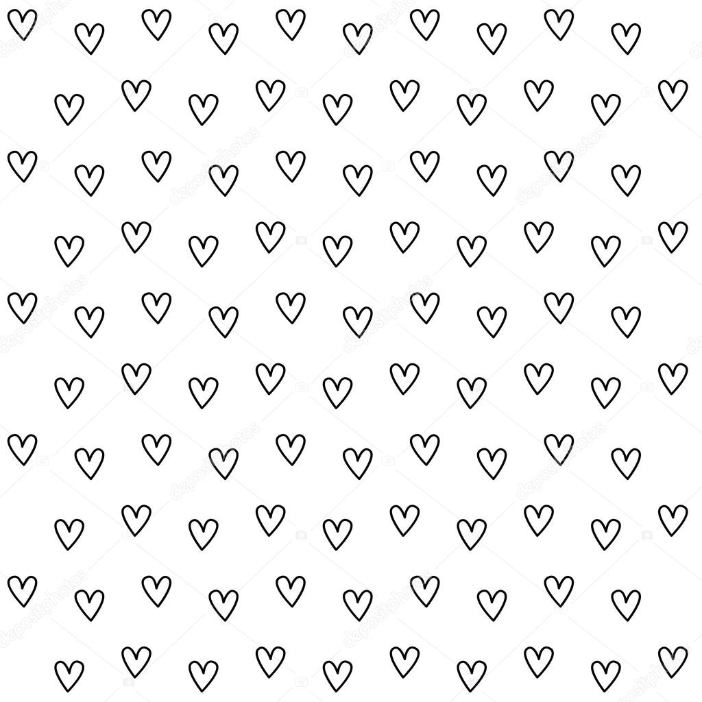 black and white heart pattern background — stock vector © yayha