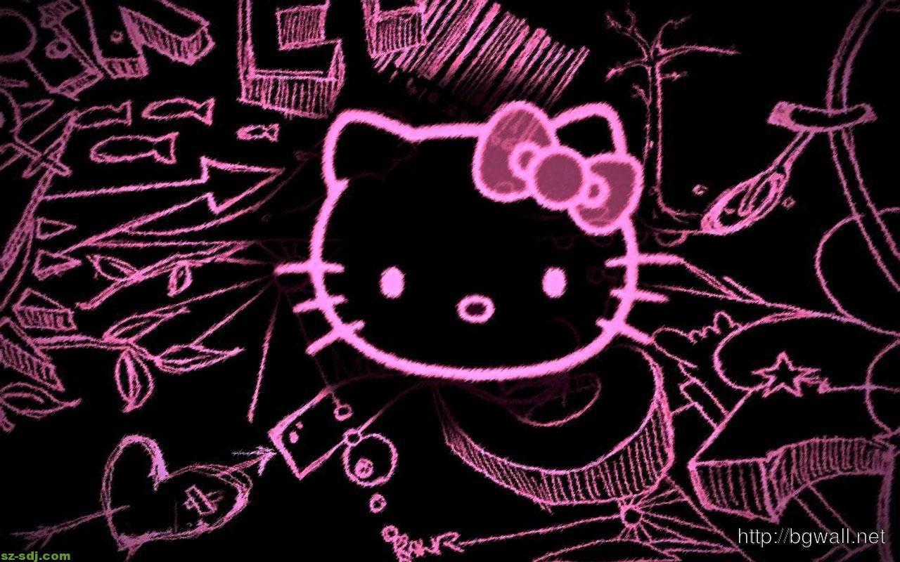10 New Black Hello Kitty Wallpaper Full Hd 1080p For Pc Desktop 2019