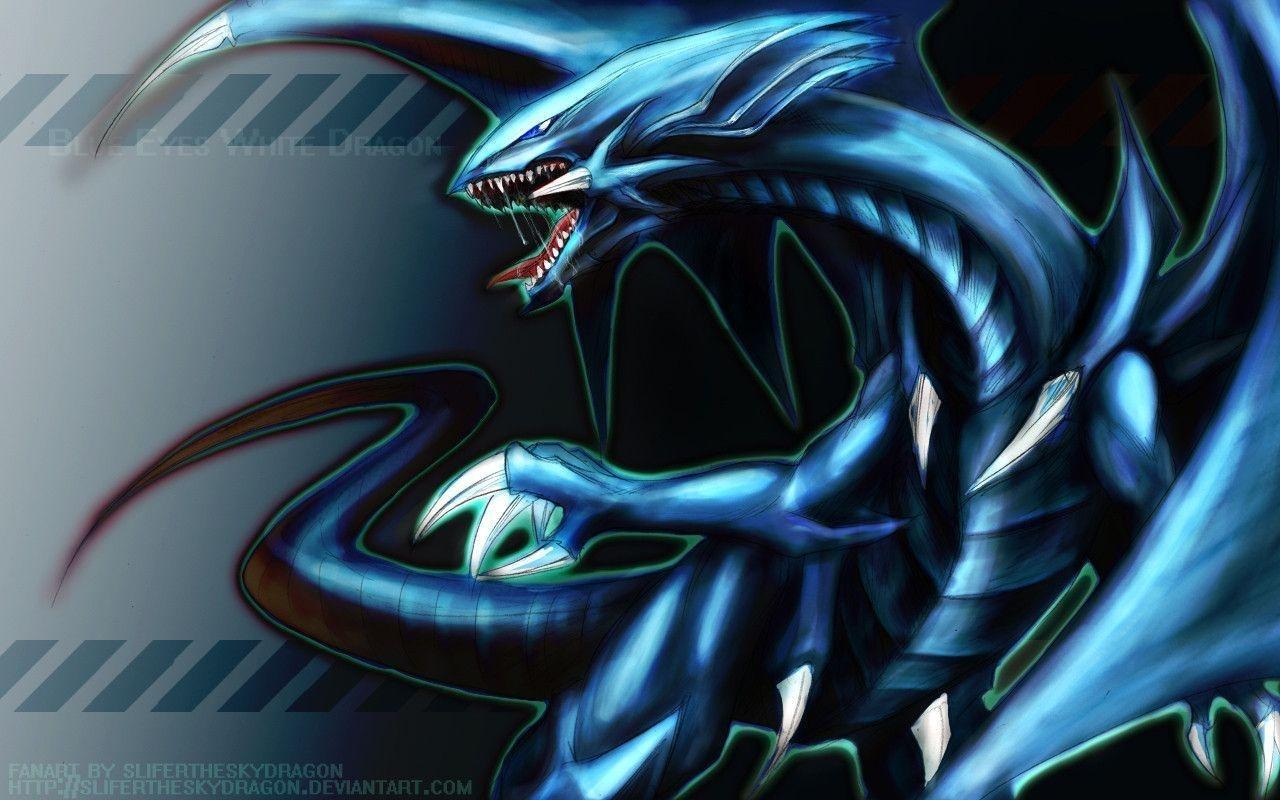 blue eyes white dragon wallpapers - wallpaper cave