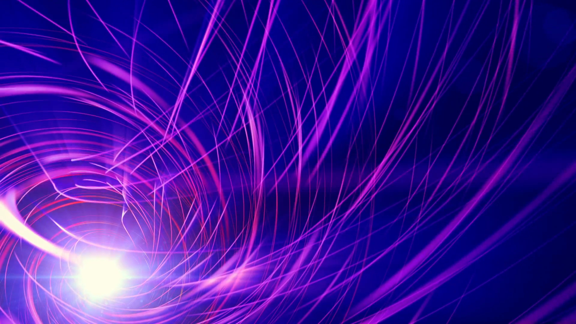 blue motion background with purple spiral lines, loop motion