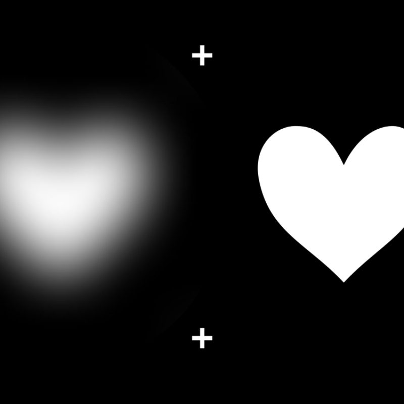 10 New White Heart Black Background FULL HD 1080p For PC Background 2021 free download blurry heart illusion 800x800