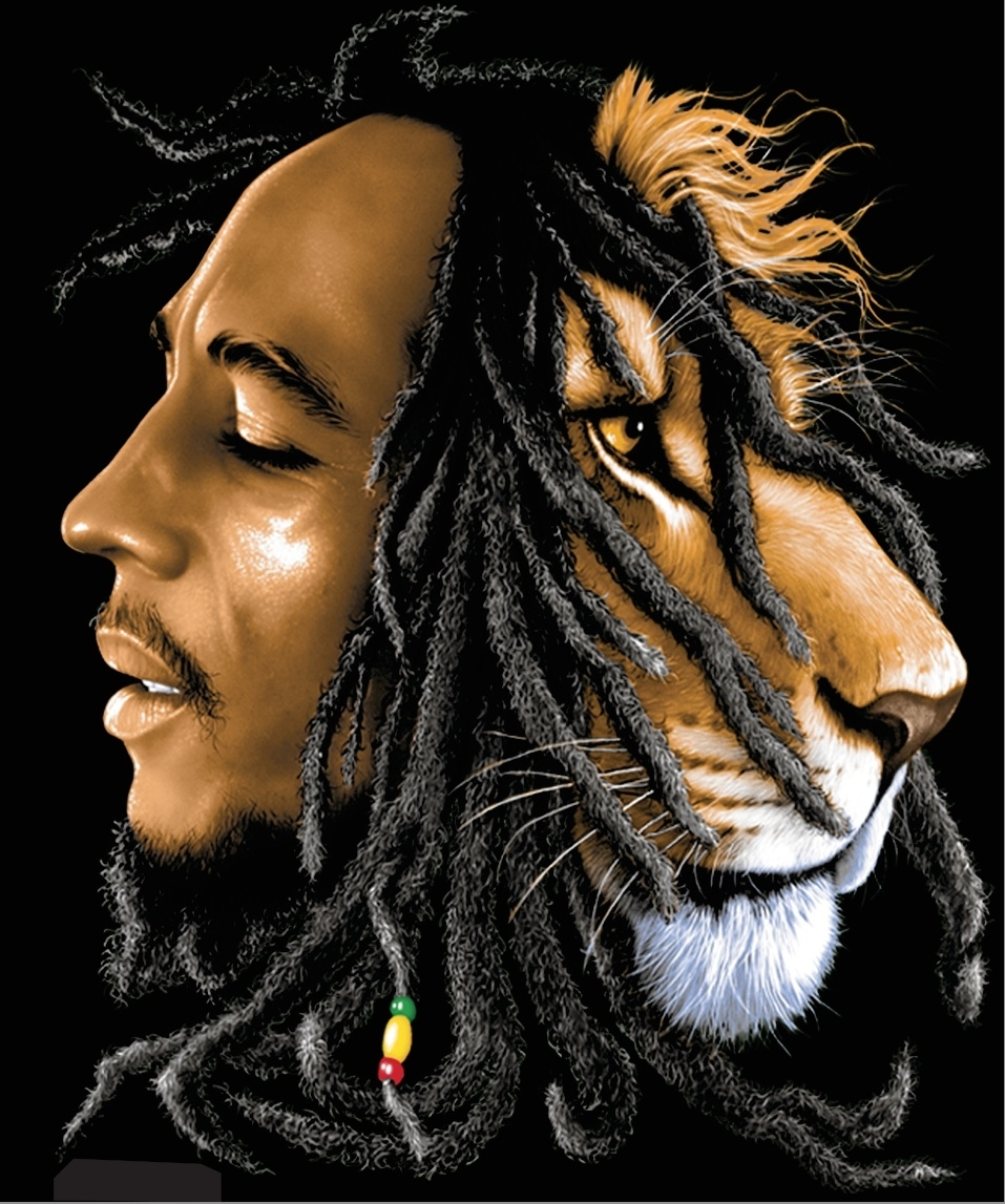 bob marley lion wallpaper collection (80+)