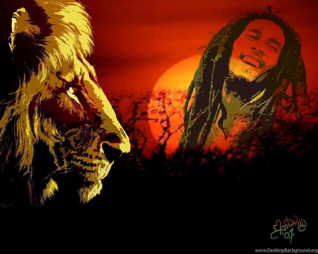 bob marley wallpapers lion desktop background