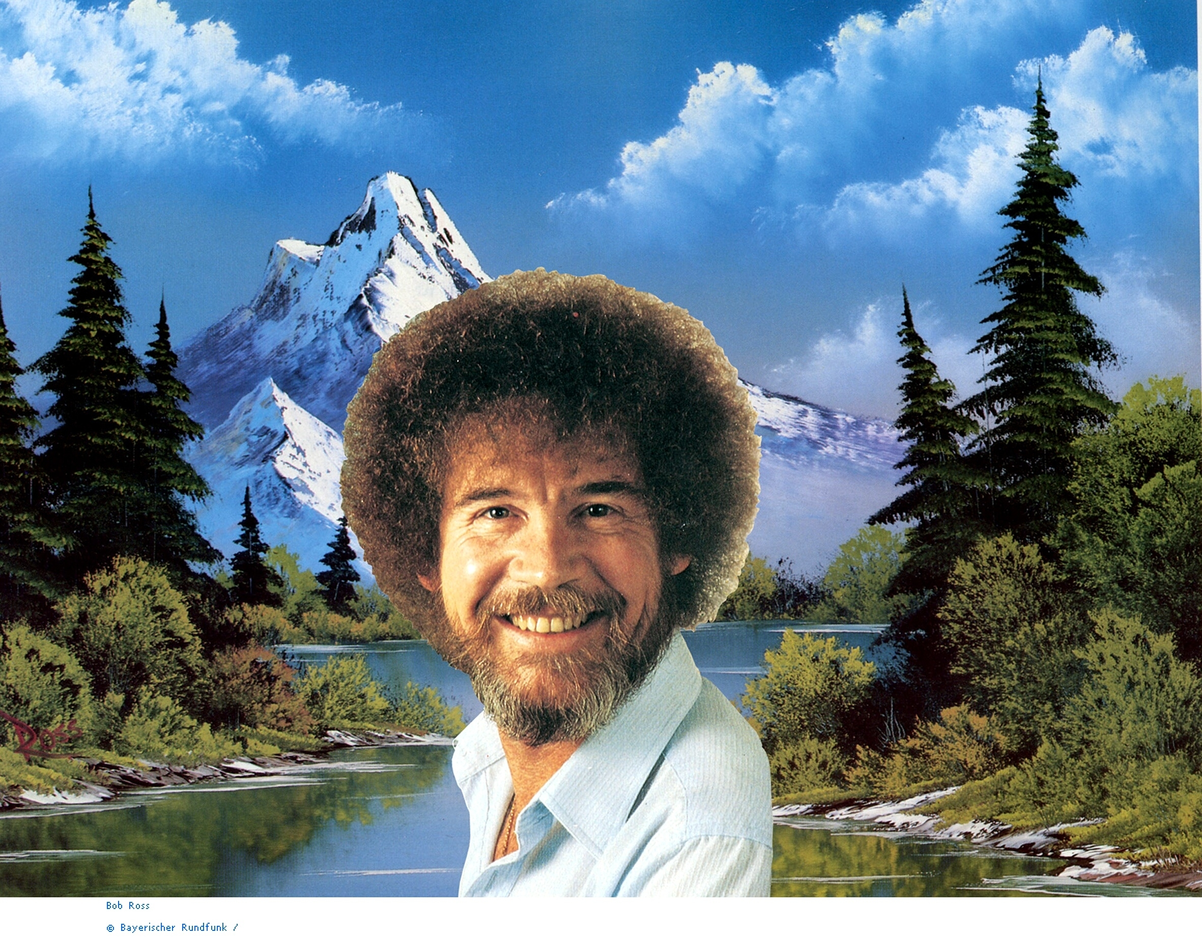 bob ross full hd wallpaper and background image | 2362x1844 | id:79722