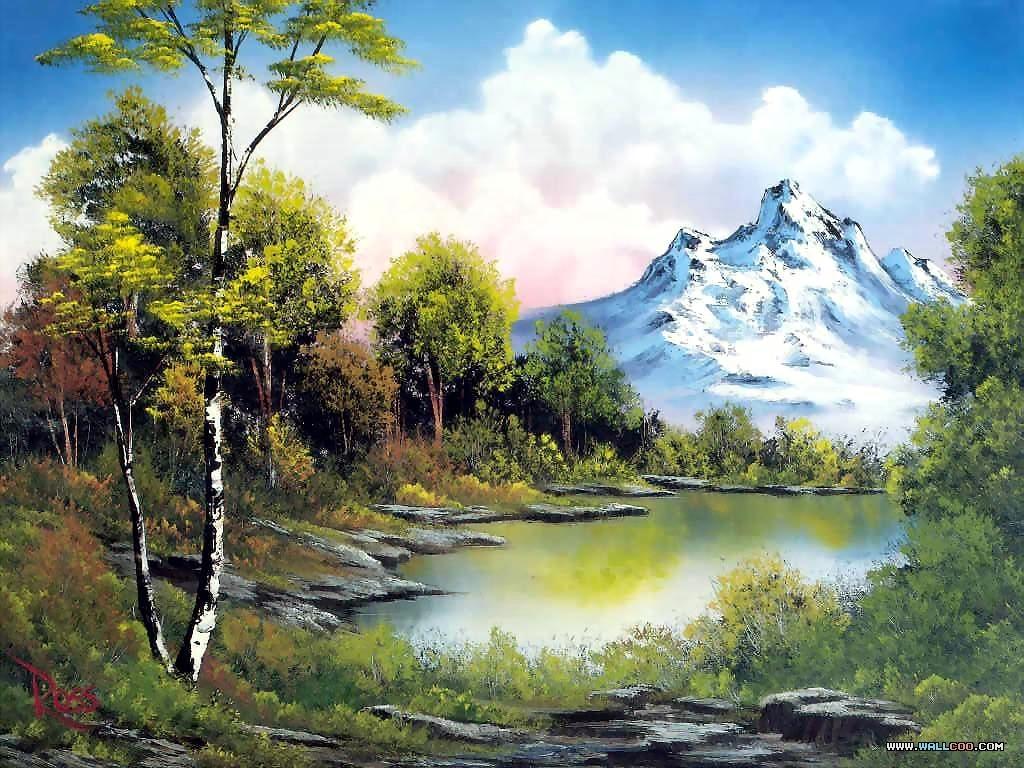 bob ross paintings : bob ross oil paintings, landscape paintings