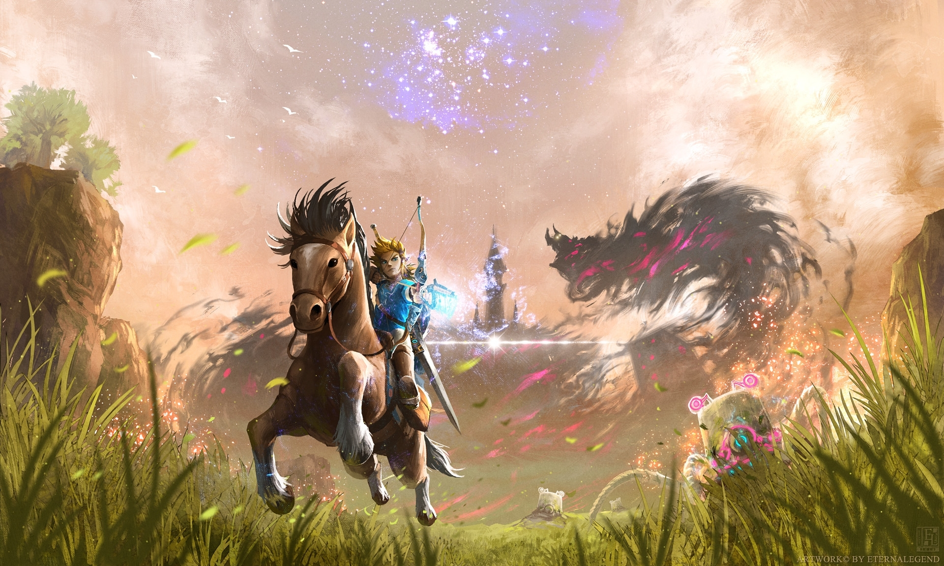 10 Latest Zelda Breath Of The Wild Wallpapers FULL HD 1920×1080 For PC Background 2020