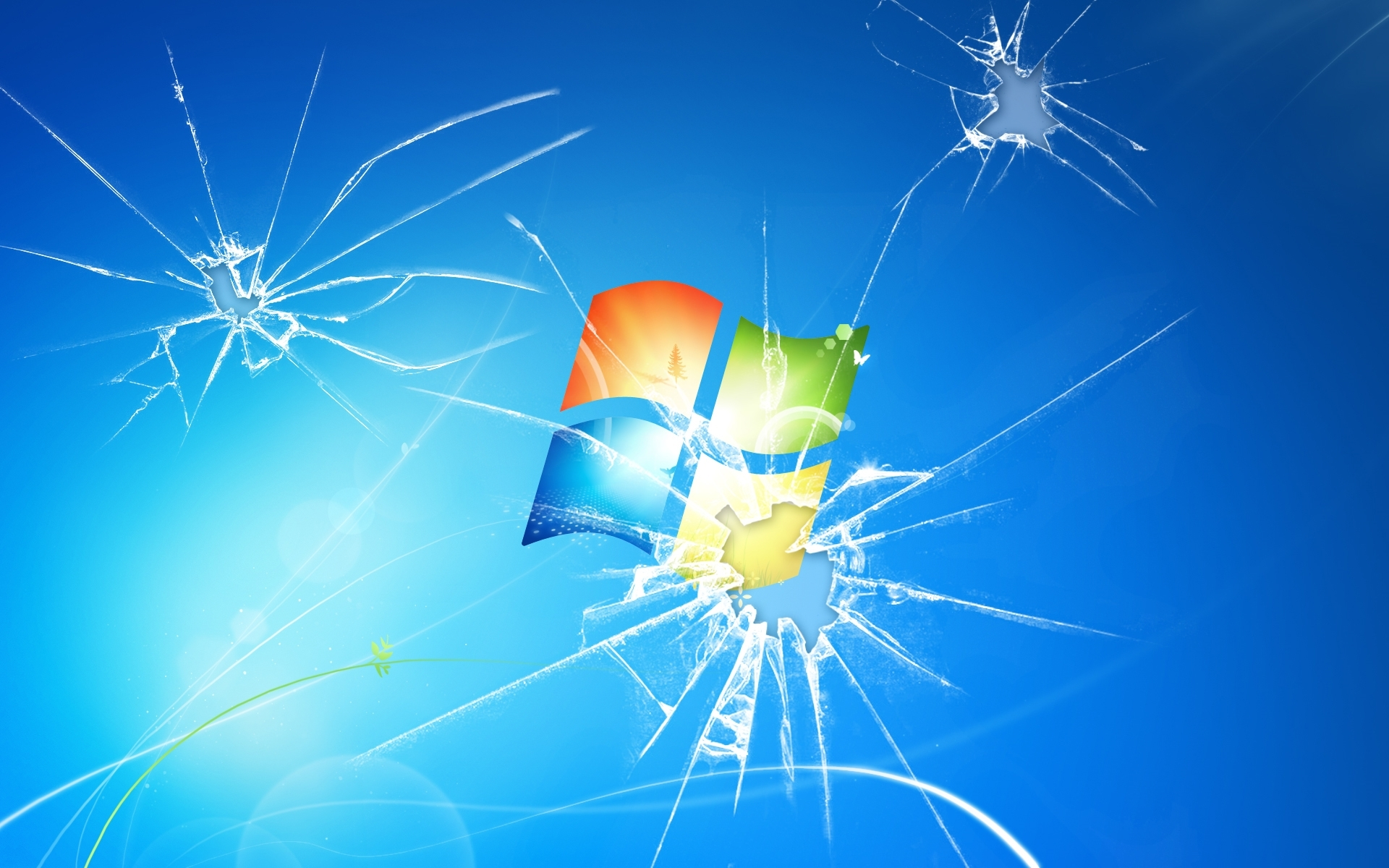 broken-cracked-screen-windows-7-desktop-wallpaper - wallpaper.wiki