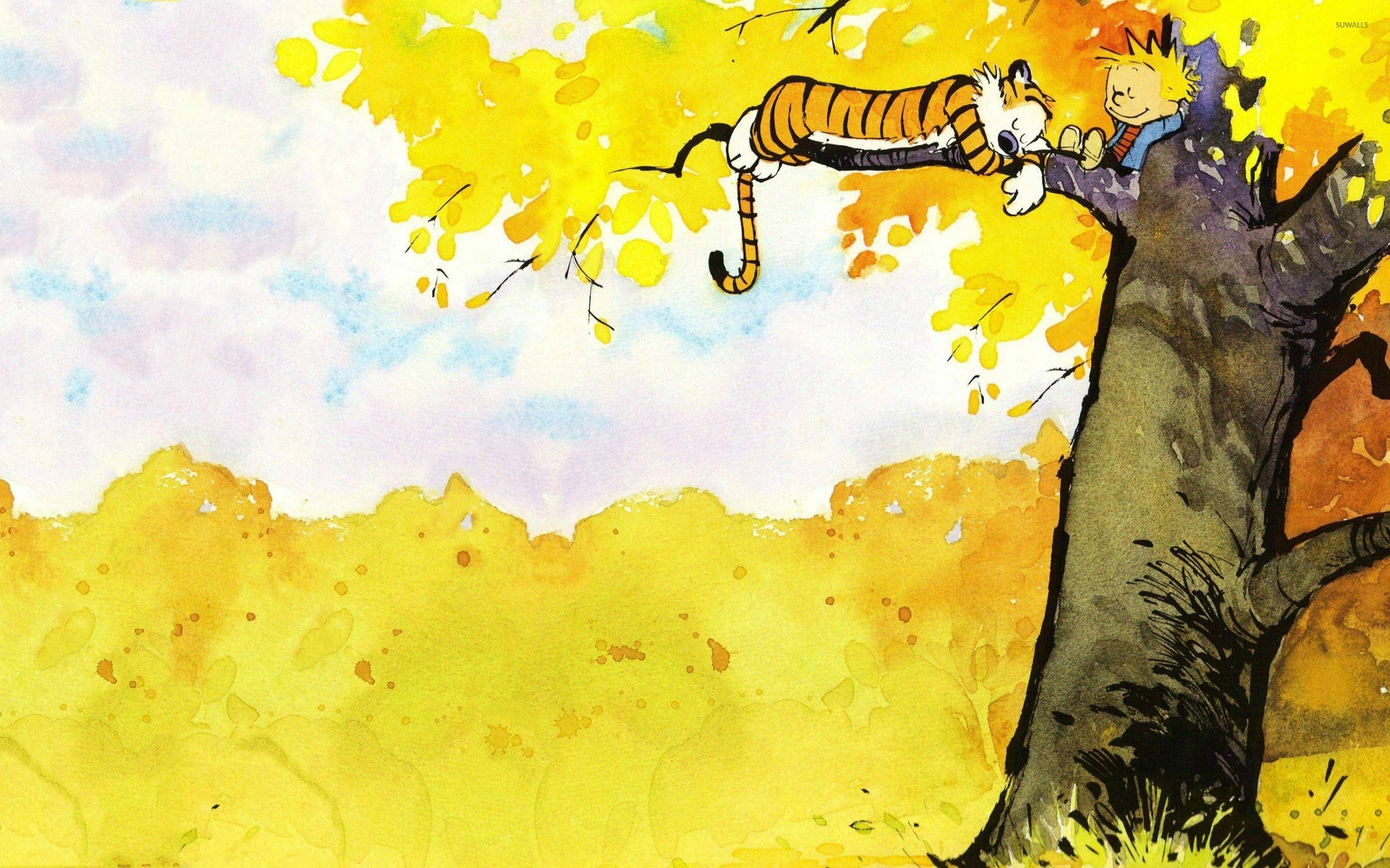 calvin and hobbes [11] wallpaper - comic wallpapers - #41181