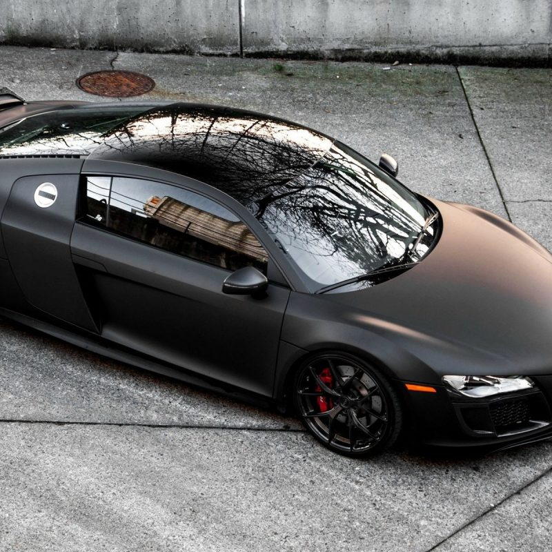 10 New Audi R8 Matte Black Wallpaper Full Hd 1920 1080 For Pc