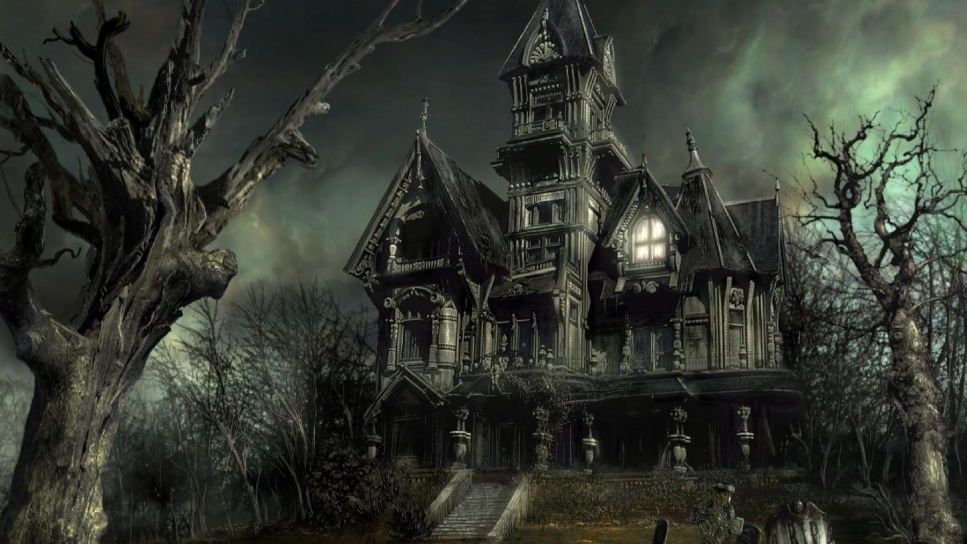 cgi 3d haunted house wallpaper | (121186)